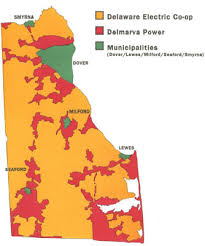 Delaware Electricity Map