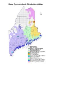 Maine electric utility map